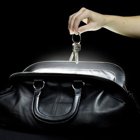 Handbag light with hand